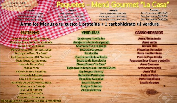 paquetes gourmet